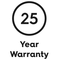 BOEN 25 years warranty. Logo.